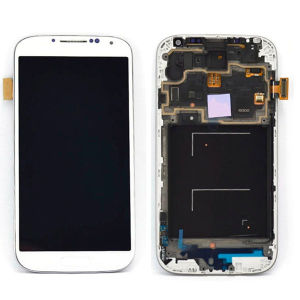 LCD Display Touch Screen Digitizer Assembly for Samsung Galaxy S4 I9500 with Frame pictures & photos