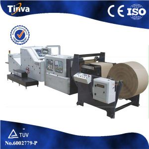 High Quality PLC Servo Motor Automatic Roll Feeding Square Bottom Kfc Paper Shopping Bag Making Machine pictures & photos