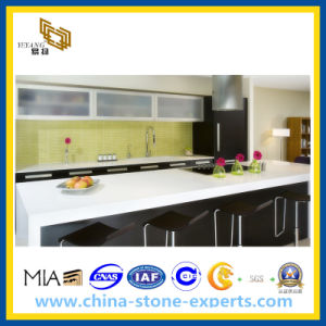 White Artificial Quartz for Kitchen Countertop pictures & photos