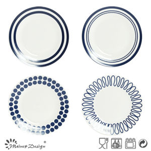 26.5cm Porcelain Dinner Plate with Decal Pop Style Design pictures & photos