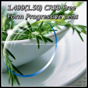 1.499 (1.50) Cr39 Free Form Progressive Lens pictures & photos
