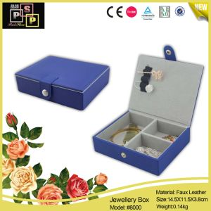 Chinese Supplier Middle Household Blue Leather Jewellery Gift Boxes pictures & photos
