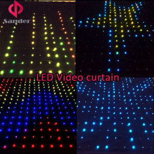 2016 Hot Festival LED Video Curtain for Band Show, Bar, Disco, Wet Party etc pictures & photos