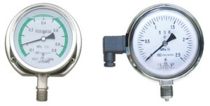 Anti-Vibration Stainless Steel Pressure Gauge Filling with Silicone Oil