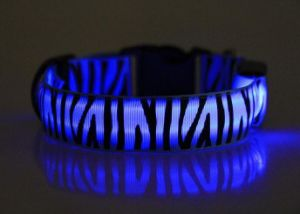 Remote Control Nylon LED Flashing Dog Collar for Christmas with USB Battery pictures & photos