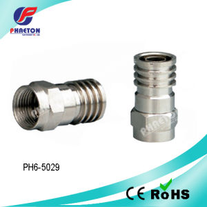 Rg59 RG6 Crimp F Connector for Coaxial Cable (pH6-5029) pictures & photos