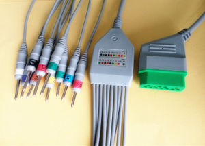 Nihon Kohden 12pin Aha DIN3.0 ECG Cable pictures & photos