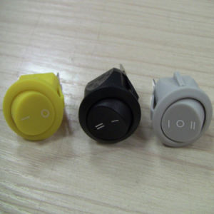Good Quality White Button Switch Press Button Round Rocker Switch pictures & photos