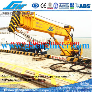 4t@30m Telescopic Boom Marine Deck Crane pictures & photos