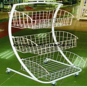 Metal Display Stand on Wheels Shop Fittings Display pictures & photos