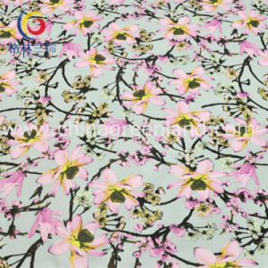 Cotton Polyester Spandex Satin Printed Fabric for Garment Dress (GLLML195) pictures & photos