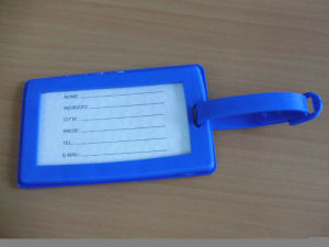High Quality Fashio Blue 3D Luggage Tag pictures & photos