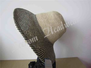 Fashion Leisure Lady Bucket Straw Sun Hat pictures & photos