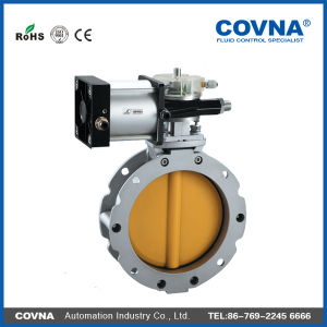 Flange Pneumatic Butterfly Valve with Cylinder Drive pictures & photos