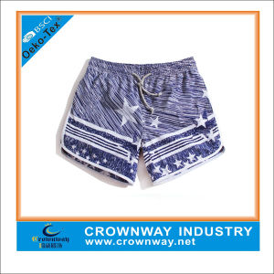 Blue 100% Polyester Men′s Funny Board Surf shorts in Xl pictures & photos