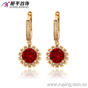 28367 Latest Fashion Luxury Female 18k Gold-Plated Zircon Jewelry Earring pictures & photos