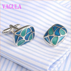 VAGULA Gemelos Men French Shirt Enamel Brass Cuff Links 350 pictures & photos