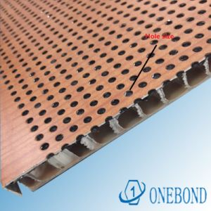 Onebond Perforated Ceiling Aluminum Honeycomb Panel pictures & photos