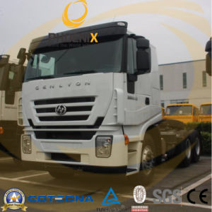 Flat Roof 380HP 6X4 C100 Hongyan Jielion Iveco Tractor Trailer Truck pictures & photos