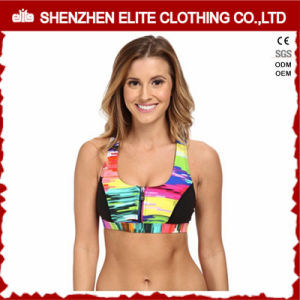 Yoga Sports Women Sexy Nude Sublimation Sport Bra Zip pictures & photos