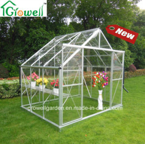 Solid Polycarbonate Clear Greenhouse Double Sliding Door (E806) pictures & photos