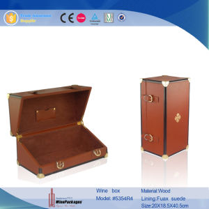 Luxury Genuine Leather Wine Box for 375ml Bottle with EVA Foam pictures & photos