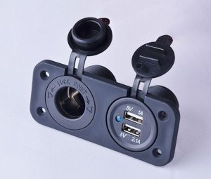 Dual USB Car Cigarette Lighter Socket Splitter Power Adapter Charger Outlet 12V pictures & photos