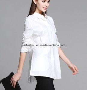 Fashion White Falbala Ladies Shirt Fashion Blouse pictures & photos