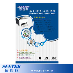 Light Color Laser Water Decal Paper Water Transfer Paper pictures & photos