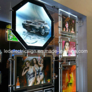 LED Sign Shopping Super Slim Acrylic Crystal Light Box pictures & photos