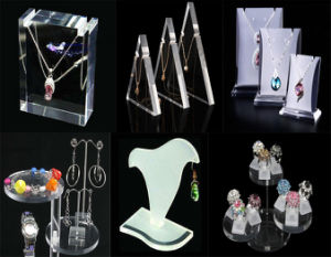Pop up Wholesale Transparent Clear Acrylic Optical Cosmetic Makeup Nail Polish Lipstick Necklace Jewelry Display pictures & photos