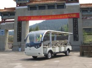 14 Seaters Electric Sightseeing Buggy for Sale pictures & photos