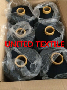 100% Polyester DTY Dope Dyed Weaving Yarn (150D/48F SD NIM) Navy Blue pictures & photos