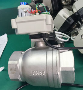 2 Inch 2 Way Dn50 Ss304 Stainless Steel Cr501 Electric Motorized Ball Valve pictures & photos