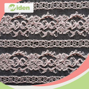 Embroidered Pink Color Nylon Net Lace Chantilly Lace Fabric pictures & photos