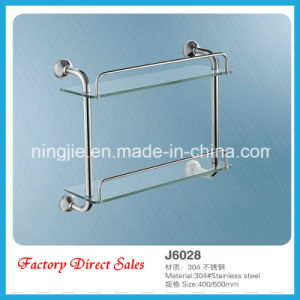 Factory Direct Sales Sanitary Ware Double Glass Shelf (J6028) pictures & photos