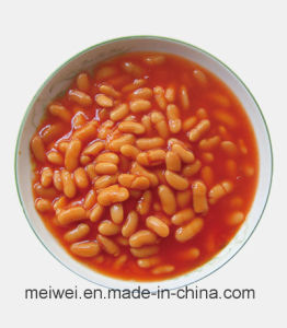 High Quality 400g Canned White Kidney Beans in Tomato Sauce pictures & photos
