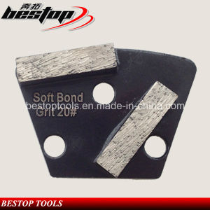 Two Segments Concrete Trapezoid Grinding Block with Polar Magnetic Back pictures & photos