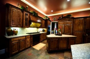 Golden Brown Kitchen Cabinet (GB11) pictures & photos