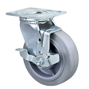 5 Inch Heavy Duty Swivel Performa Wheel Caster with Brake TPR Caster pictures & photos