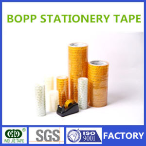 Weijie BOPP Adhesive Stationery Tape with Plastic and Paper Core pictures & photos