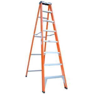 Single Side Foldind FRP 6 Step Ladder with Tool Box pictures & photos