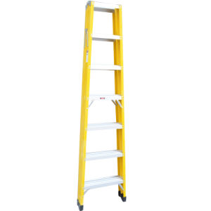 A Shape Double Side Foldable Inslulated FRP Step Ladder pictures & photos