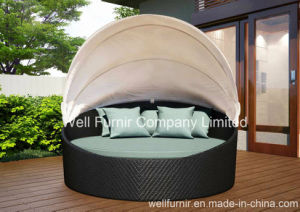 Rattan Outdoor Canopy Daybed / Round Bed/ Outdoor Daydream Bed pictures & photos