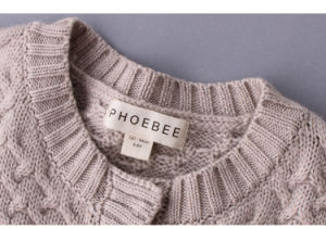 Phoebee Kids Wool Knitwear Girls Knitted Cardigan Sweater pictures & photos