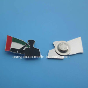 UAE Flag and Sodier Head Logo Magnetic Badge pictures & photos