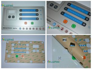 Electronic Device Membrane Graphic Overlay Metallic Effect Silk Screen Printing pictures & photos