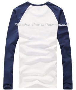 Long Sleeve Round Neck Men T-Shirt for Spring pictures & photos