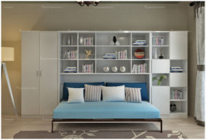 Modern Home Furniture Horizotal Tilting Murphy Wall Bed pictures & photos