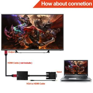 VGA Audio to HDMI Cable Adapter (FULL HD 1080P+Built-in Chipset) pictures & photos